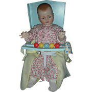 Vintage Ideal Bye Bye Baby Doll with Seat Danbury Mint
