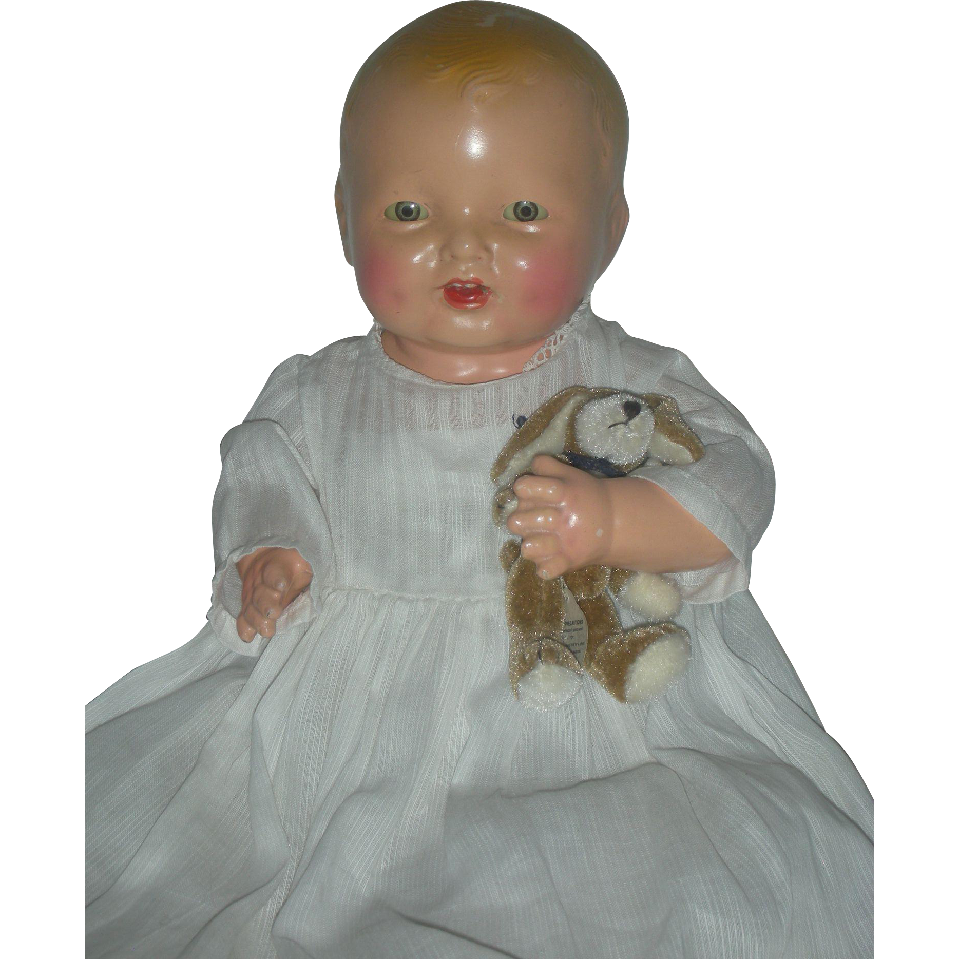 Rare Cabinet Size Effanbee Bubble Composition Baby Doll