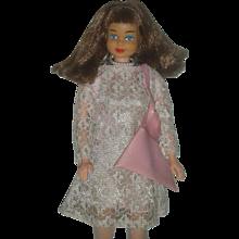 Vintage 1967 Mod Barbie Clone Doll Marked Hone Kong