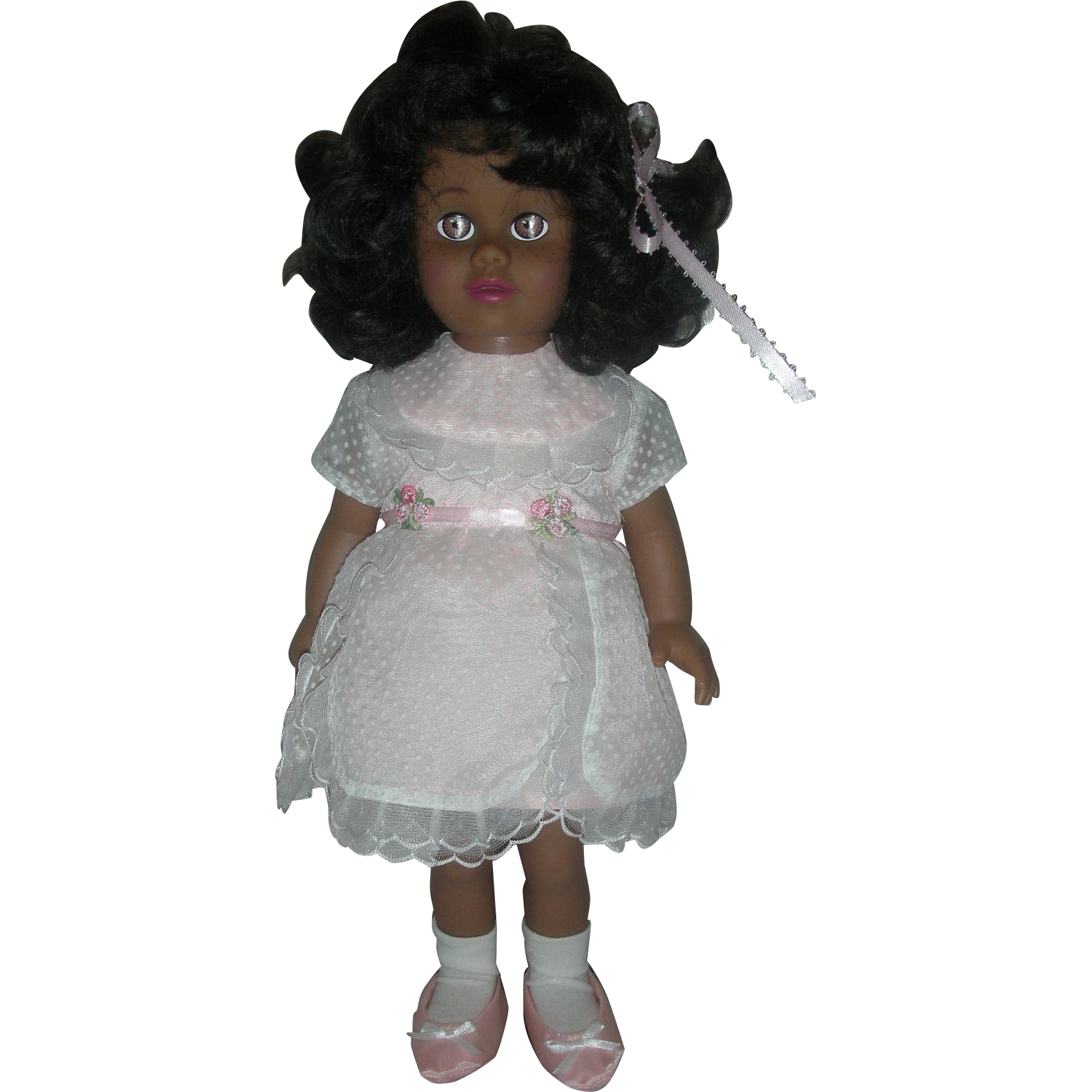 Mattel Black Chatty Cathy Doll Still Talks Wearing Sunday Party Dress