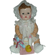 Vintage Effanbee Dy-Dee 20 inch Baby Doll with Caracul wig Dy Dee Drink and Wet