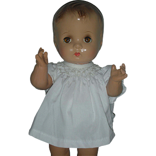 All Composition 14 inch Chubby Toodler Doll Sleep Eyes Effanbee Type Compo