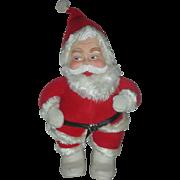 Vintage Rushton Santa Claus Mid Century Stuffed Christmas Toy Rubber Face Doll