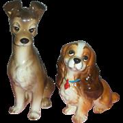 Vintage Walt Disney Lady and the Tramp Dog Figurines Japan
