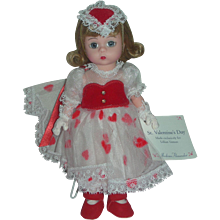 Madame Alexander 8 inch Wendy Doll Valentine's Day Made Exclusively for Lillian Vernon