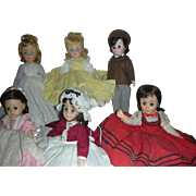 Lot of 6 Madame Alexander Little Women Dolls All Original