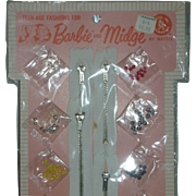 Vintage Barbie and Midge #1831 For Barbie Dressmakers Never Removed from Card 1963 MOC