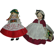 2 Vintage Madame Alexander 8 inch Doll Swiss and Little Women