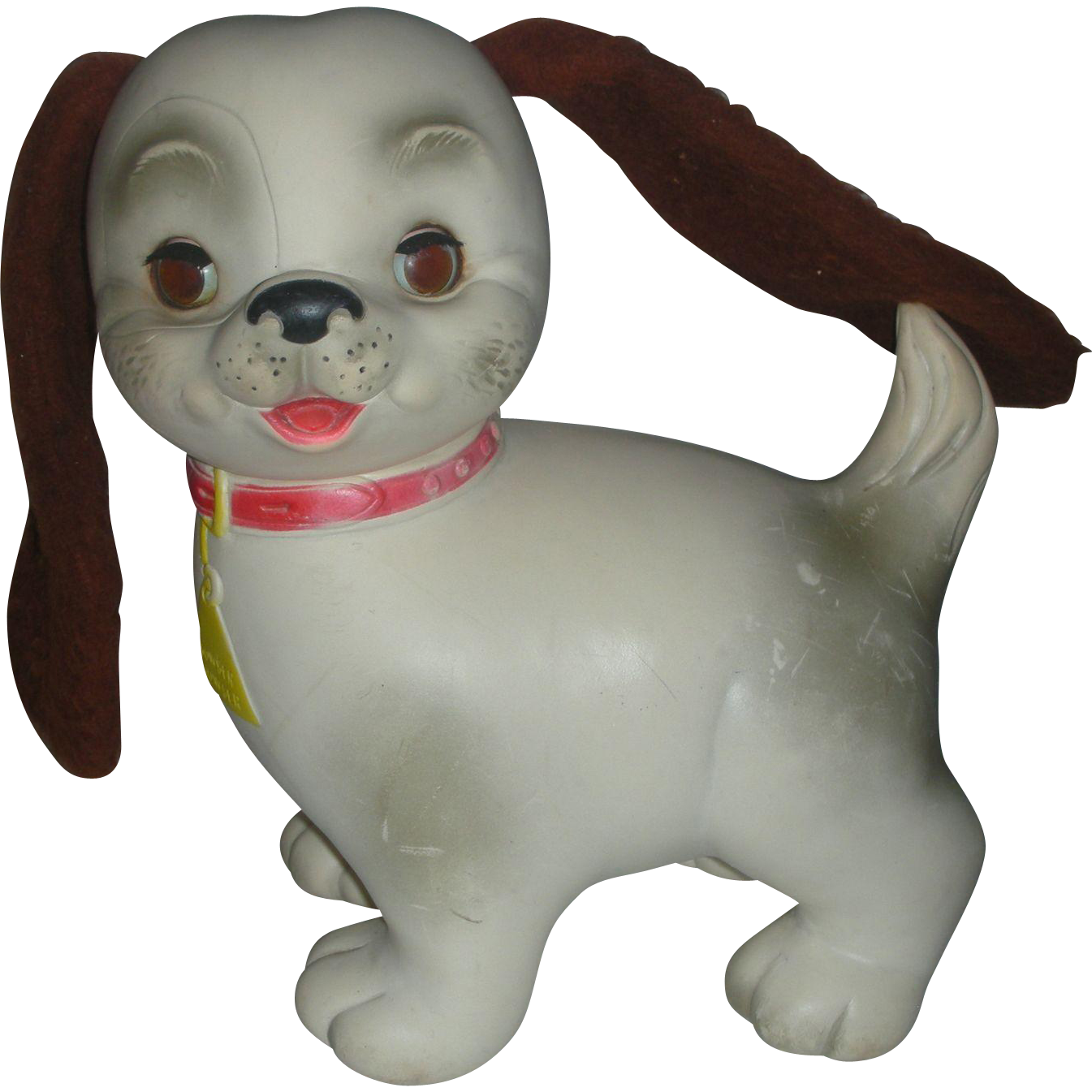 Vintage Edward Mobley Dog Rubber Squeak Toy With Sleep Eyes Early From Charlottewebcollectibles