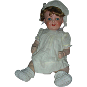Vintage Heubach Kopplesdorf Bisque Character Baby Doll 16 in Flirty eyes and Wobble Tongue 342 Germany
