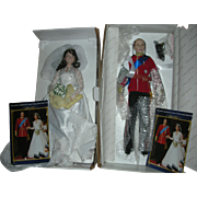 Royal Wedding Commemorative Dolls Prince William and Princess Kate Middleton Porcelain Dolls Danbury Mint