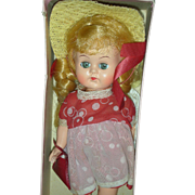 Vintage 1950's 8 inch walker Doll in Box Marcie Dolly Walker Pam or Ginger
