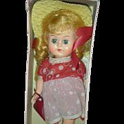 Vintage 1950's 8 inch walker Doll in Box Marcie Dolly Walker Pam or Ginger
