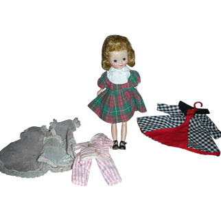 Vintage Betsy McCall Doll and Clothing American Character 8 inch Dolls 1950's