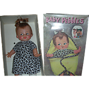 Vintage Ideal Baby Pebbles Flinestone Doll 1960's 15 inches in Original Box