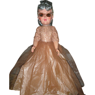 HTF Vintage 1950's Royal Grannykins Fashion Doll 19 inch Grandmother Revlon Type