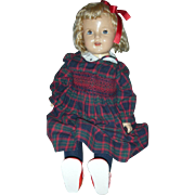 Vintage 29 inch Composition Halco Doll Shirley Temple Type Compo Dolls