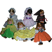 6 Vintage Madame Alexander 8 inch Dolls Friar Tuck Little Jumping Joan Cury Locks Little Miss and More