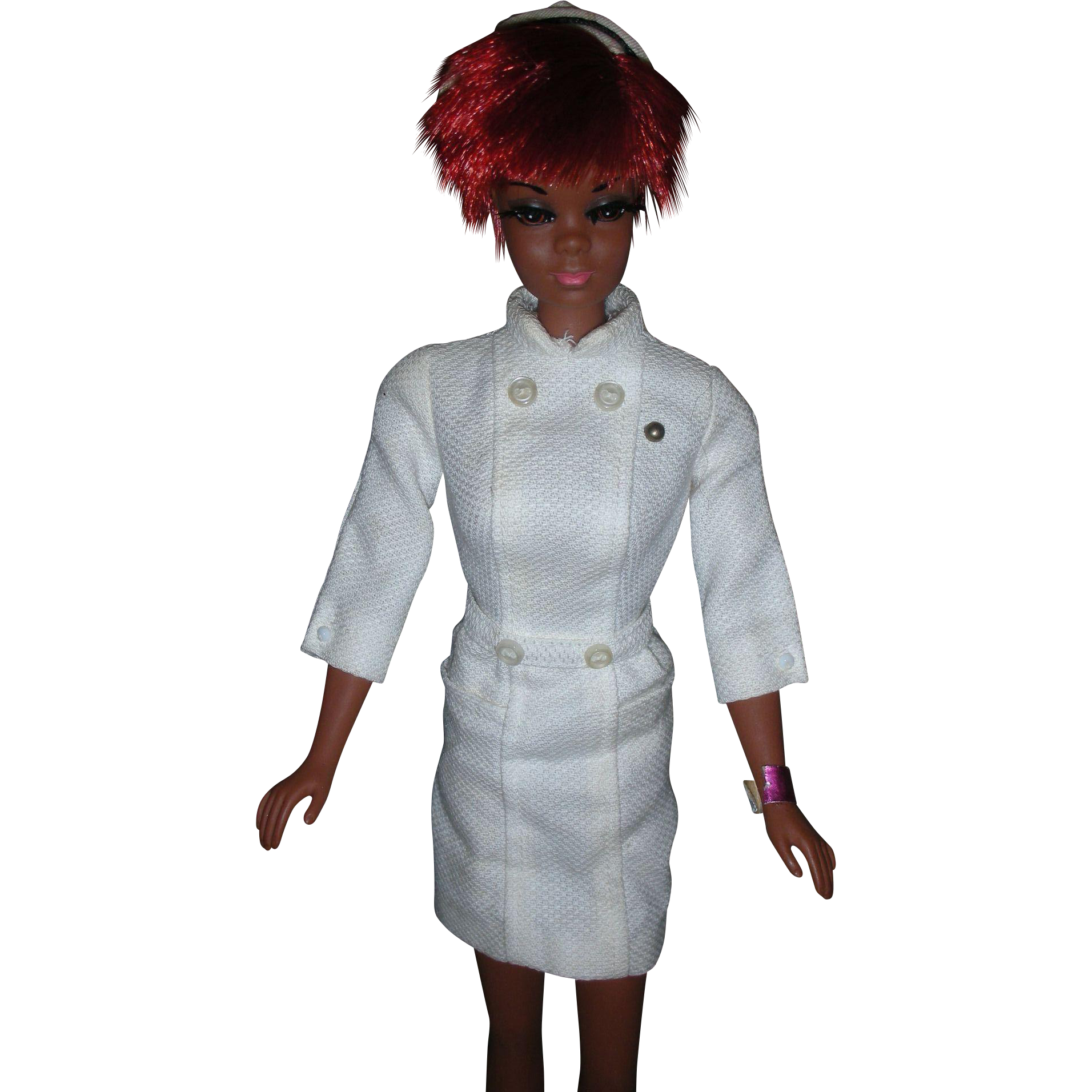 Vintage Mod Era Nurse Julia Doll Diahann Carrol Barbie Family 1960's