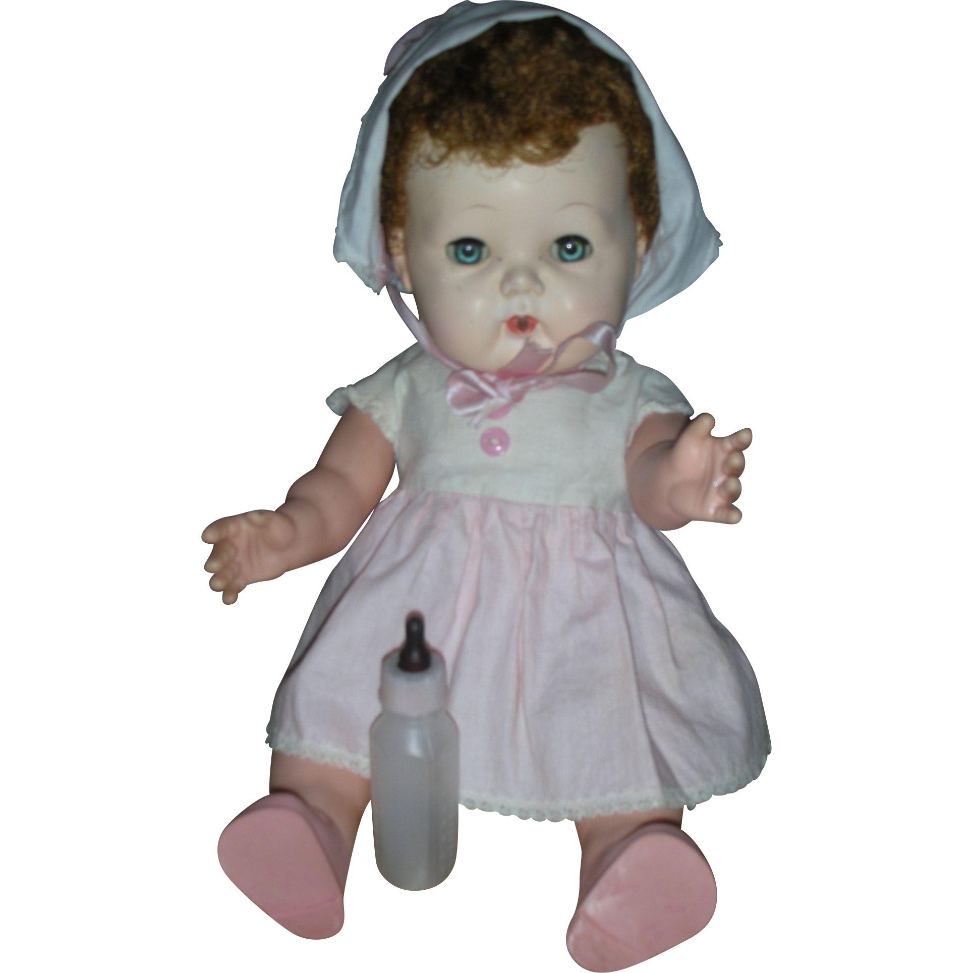 Rare Early American Character 15 inch Tiny Tears Doll Molded Face Original Clothes
