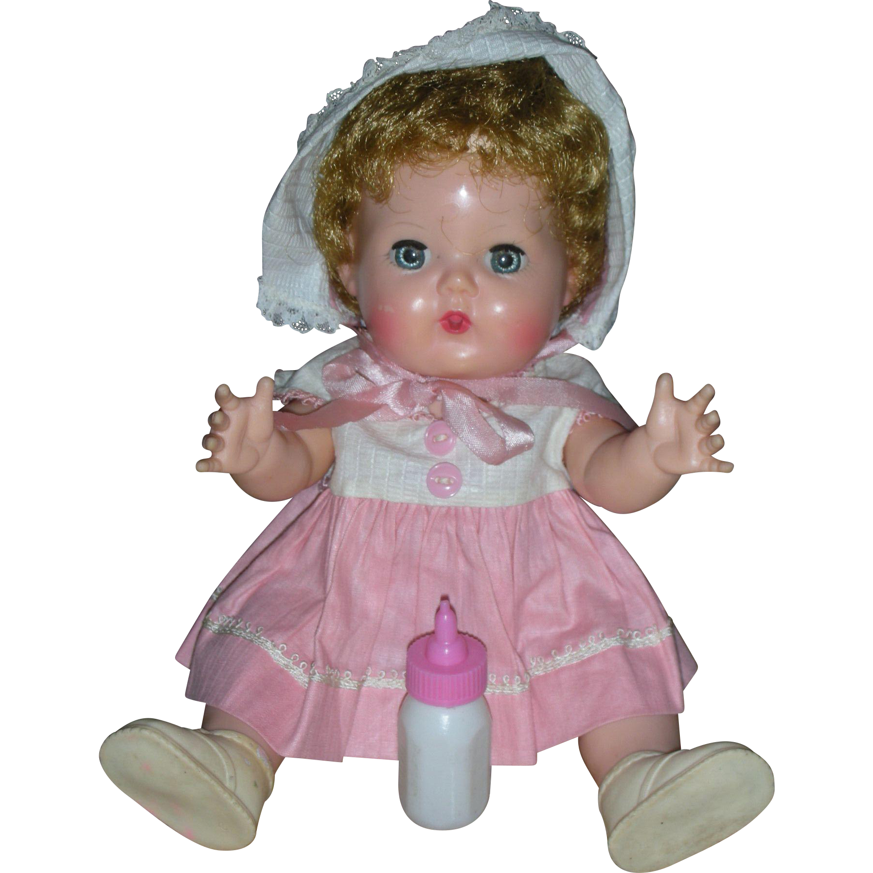 Vintage  Small Size 12 inch American Character Tiny Tears Drink and Wet Doll