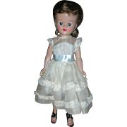 Vintage Vogue Jill Doll 1957 Wearing Organdy Formal Dress Ginny's Sister