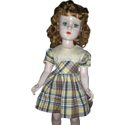 American Character Sweet Sue Walker Doll 1950's Hard Plastic Doll 20 inch All Original