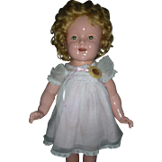 """Vintage Ideal Composition Shirley Temple Doll 18"""" Compo Dolls Very Good Condition"""