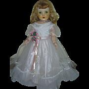 Vintage Rita Paris Doll Company Hard Plastic Walker Doll 28 inch Original Dress