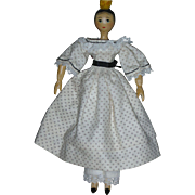 "Rare Vintage Tuck Comb ""Angelita"" Peg Wooden Doll by Artist Sherman Smith for 1963 UFDC"