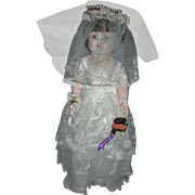Rare Vintage 1950's Bride Doll 30 inch Playpal Hard Plastic Walker Sherman Doll and Toy Company Judee Doll