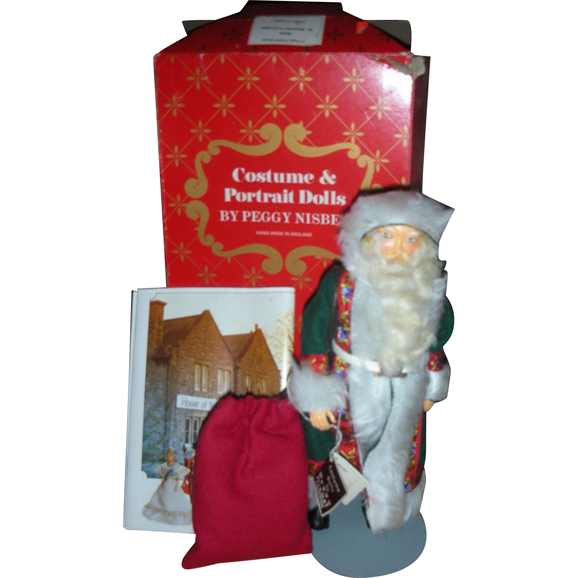 Vintage Peggy Nisbet St Nicholas in Europe Doll #B335 in box Christmas Artist Doll Handmade in England