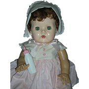 Rare Large 20 Inch American Character Tiny Tears Doll Saran Hair and Rubber Body 1950's