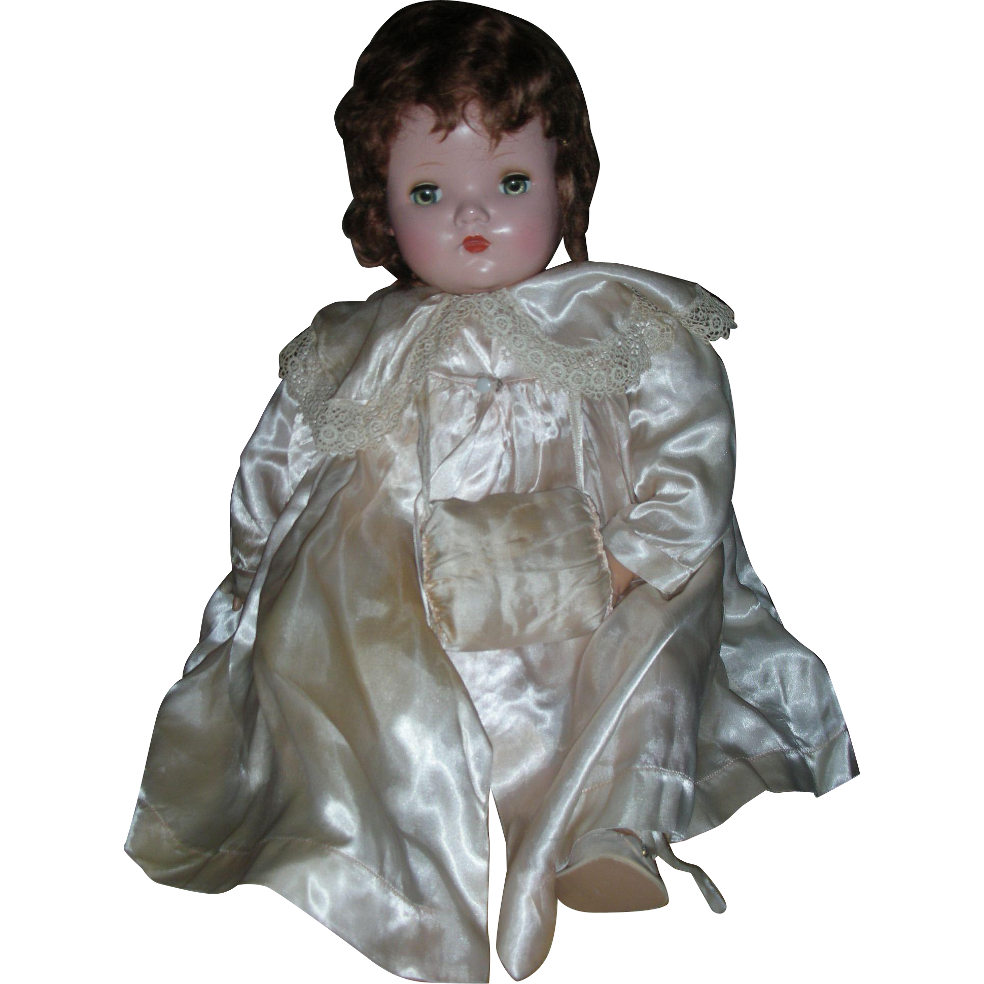 "Vintage Large 24"" Madame Alexander Baby Genius Doll All Original Tagged Clothing"