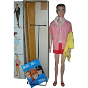 Vintage Straight Leg Ken Doll in Box with Accessories Barbie Boyfriend 1960's Original