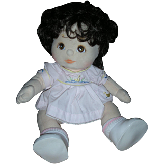 Vintage Beautiful Mattel 1980's My Child Doll Brunette with Brown Eyes