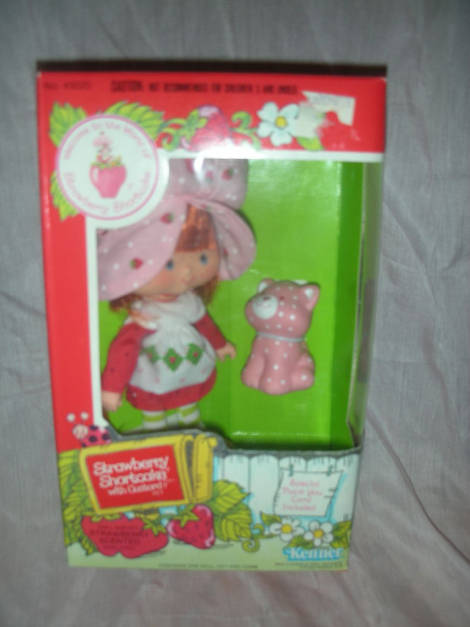Vintage Strawberry Shortcake Doll and Custard NRFB