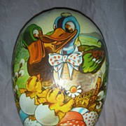 Vintage Western Germany Large Easter Egg Candy Container