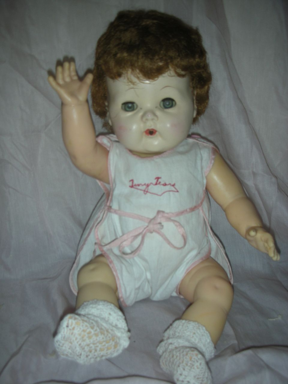 Vintage Early American Character Tiny Tears Doll Hard Plastic Head Still Cries