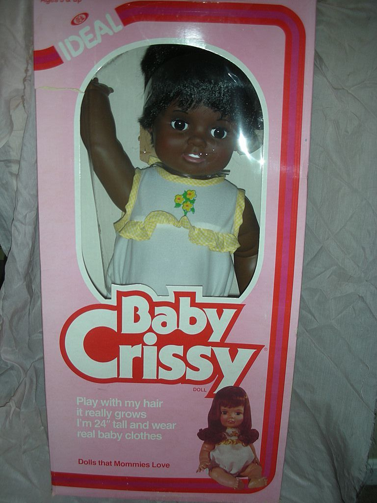 Vintage Ideal Baby African American Crissy Doll Mint in Box