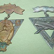 Fraternal Order of Knights of Pythias Medals 1874 Pin Badge Civil War Peace Group