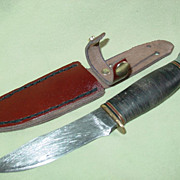 Marbles Gladstone 1916 Knife Hunting Skinning Michigan Company Arms Fixed Blade