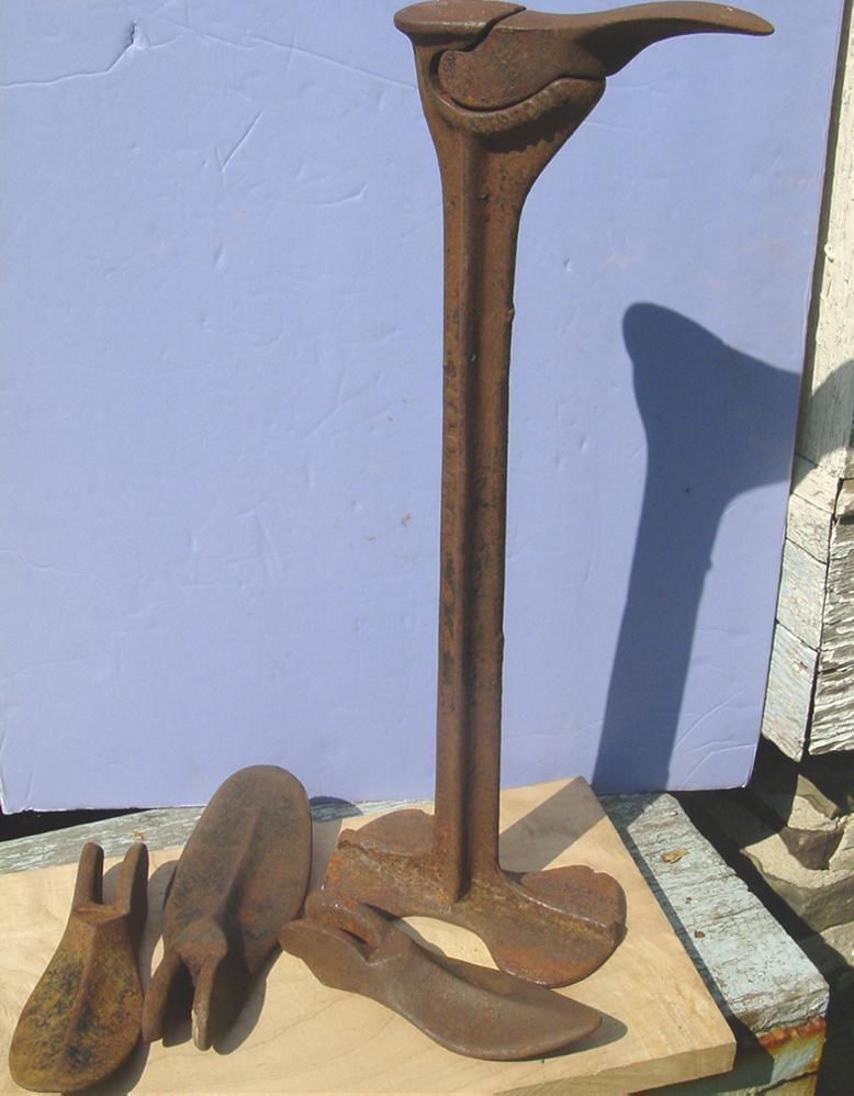 Keystone Cobbler Anvil Shoe Making Repair Stand 4 Forms Cast Iron Last Shoemaker
