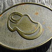 Dutch Wood Shoe Brass Belt Buckle