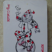 Playing Cards Joker Circus Clown Riding Bike Unicycle Holding Ace of Spades Deck Sealed
