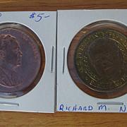 President Richard M Nixon Coin U.S. Mint  Inaugural 1969 & Sunoco Presidential Series