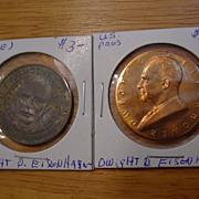 President Dwight D. Eisenhower Coin U.S. Mint Inaugural 1953 & Sunoco Presidential Series