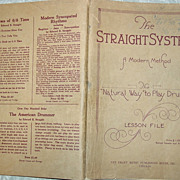 Edward B. Straight Modern Method The Natural way to Play Drums Drumming 1923 Lesson File