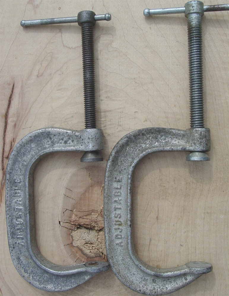 "Adjustable C Clamp 1430 3"" Made in U.S.A. Woodworking Metal Vises"