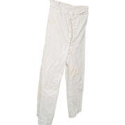 Military WWII Navy Sailor Pants White Button Fly Front Trousers Bell Bottoms 28X28